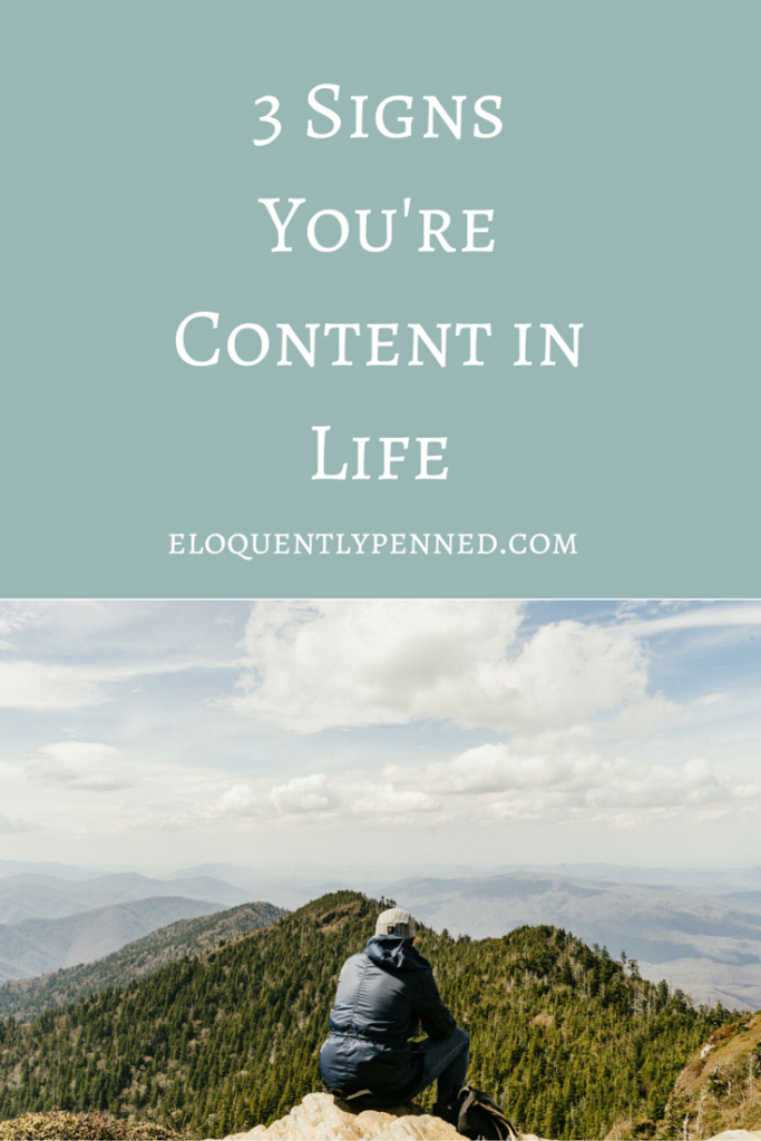 3 Signs You're Content in Life